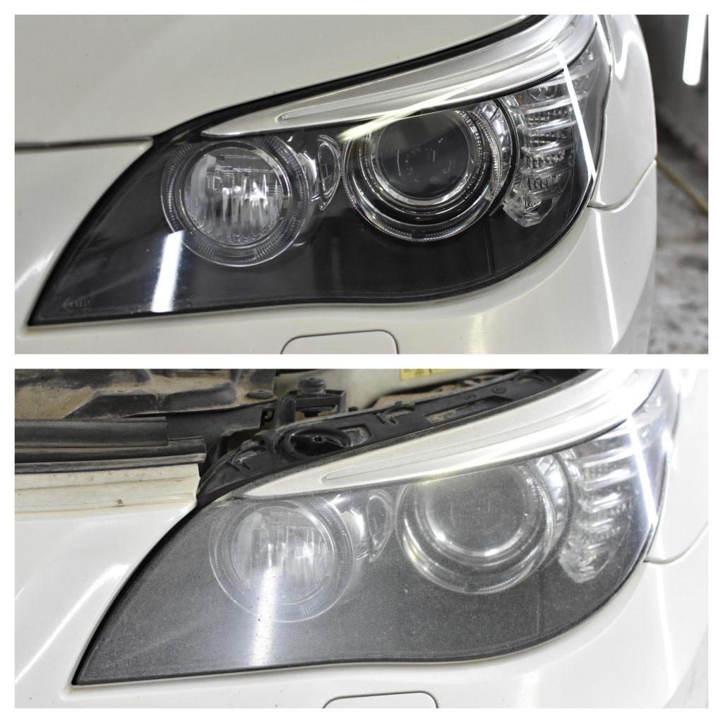 Auto lukturu pulēšana un aplīmēšana ar aizsargplēvi